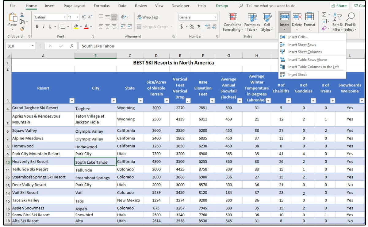 How to create, filter, and format tables in Excel | PCWorld