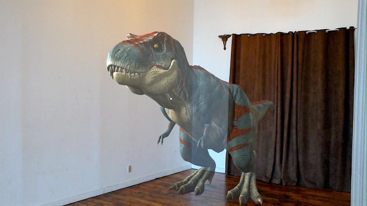 Microsoft HoloLens t-rex