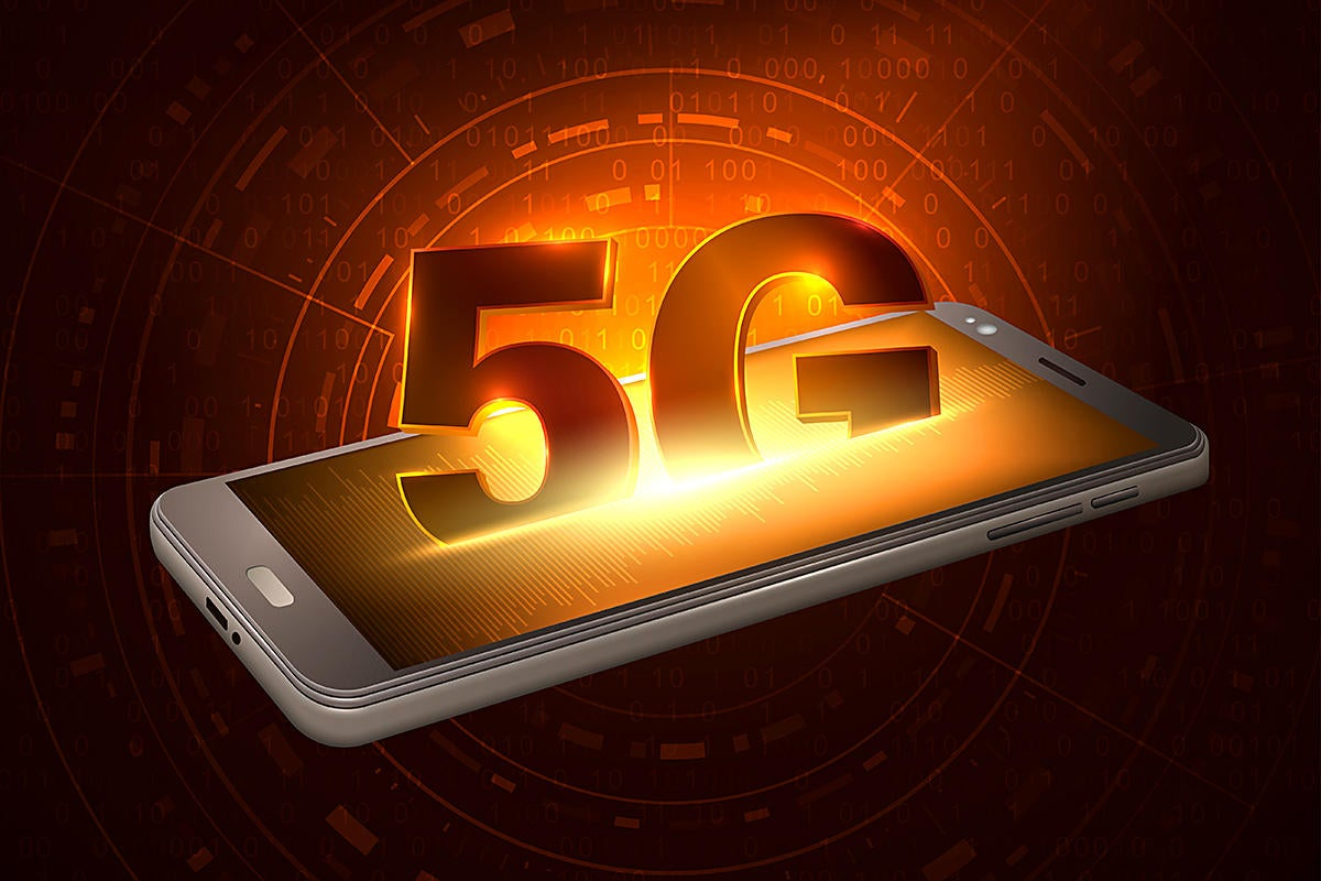 5G mobile wireless network technology emerging from smartphone