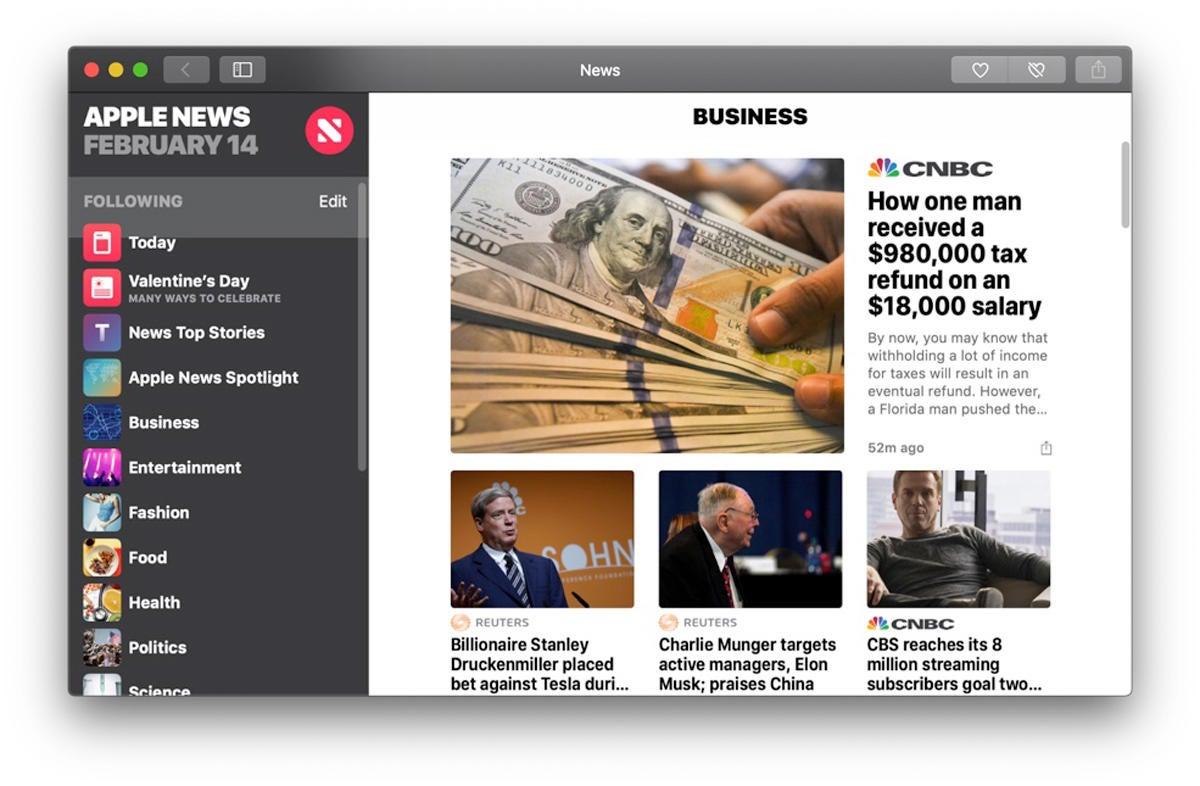apple news mojave