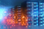 big data / data center / server racks / storage / binary code / analytics