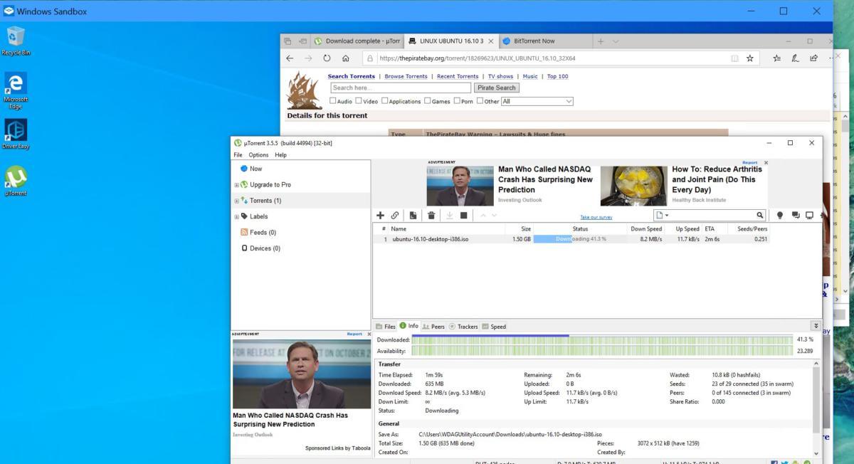 Microsoft windows sandbox bittorrent ubuntu