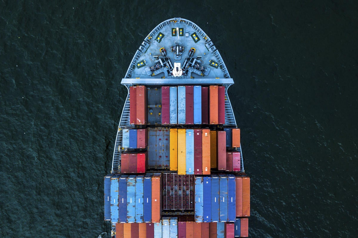 container ship storage transport colorful containers diversity outsourcing
