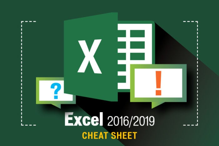 Computerworld Cheat Sheet > Microsoft > Excel [2016 / 2019]