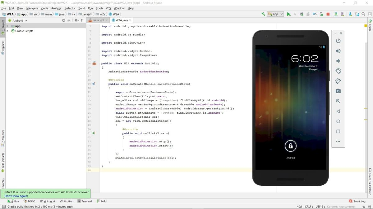 Android Studio for beginners, Part 3: Build and run the app | JavaWorld