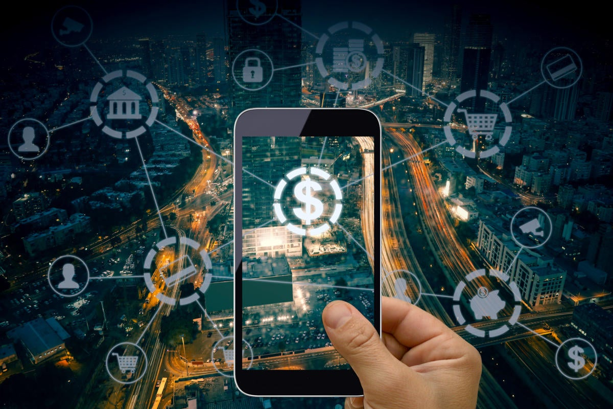 FinTech > financial technology > mobile phone > digital wallet > smart city