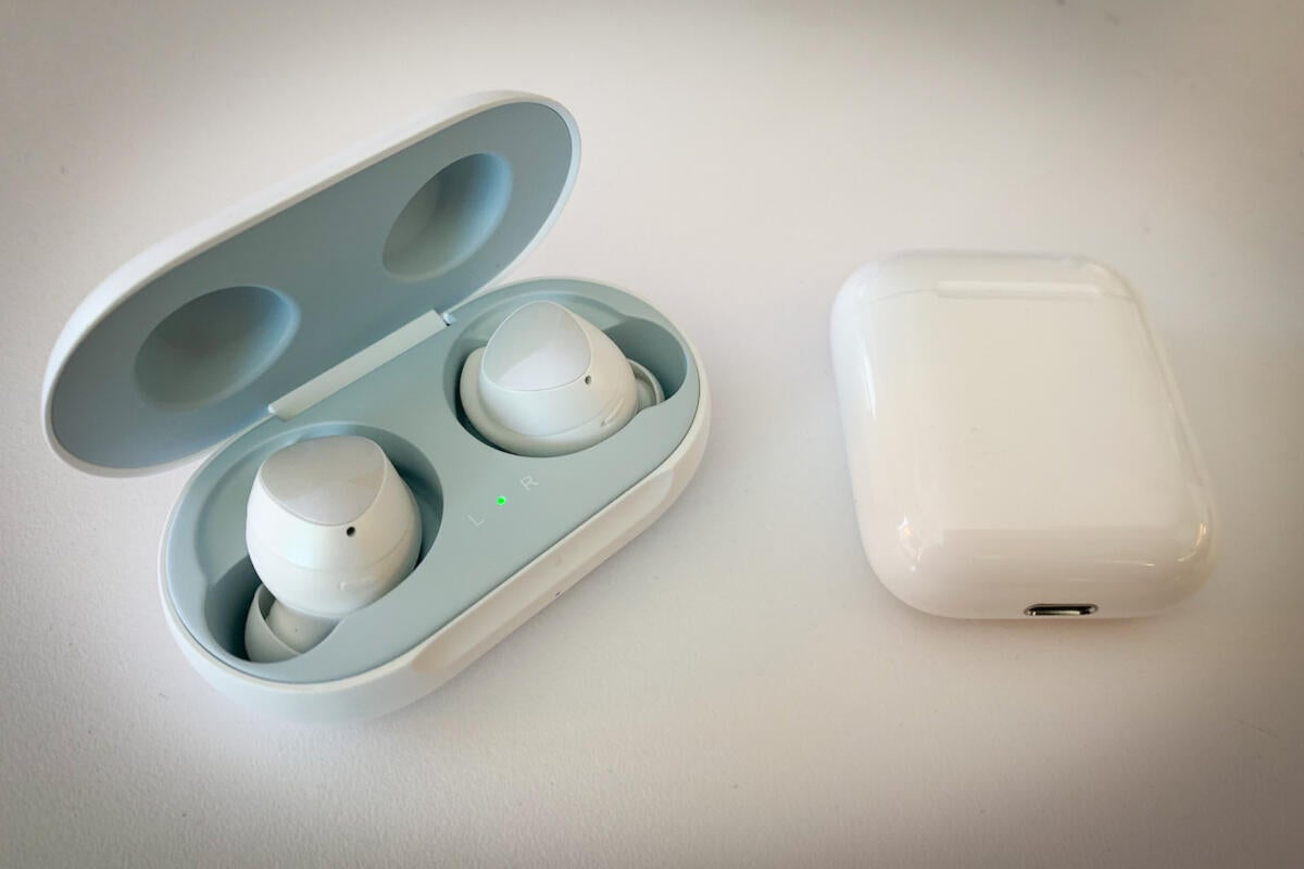 galaxy buds apple airpods 2