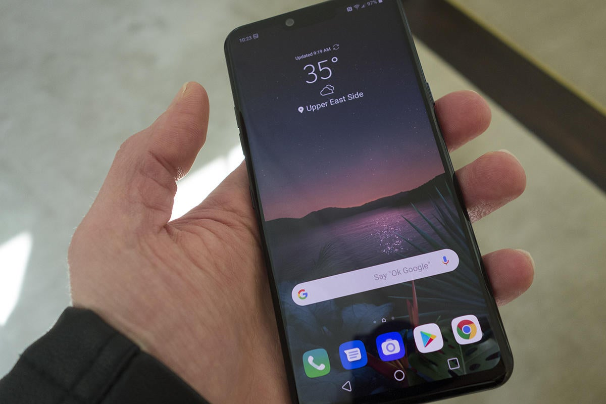 lg g8 front