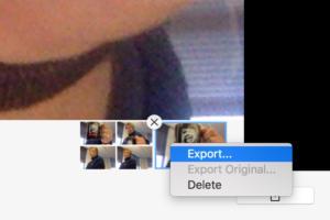 mac photo booth export menu