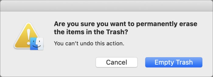 mac911 permanently delete trash items