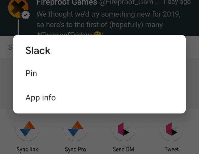 pin share android