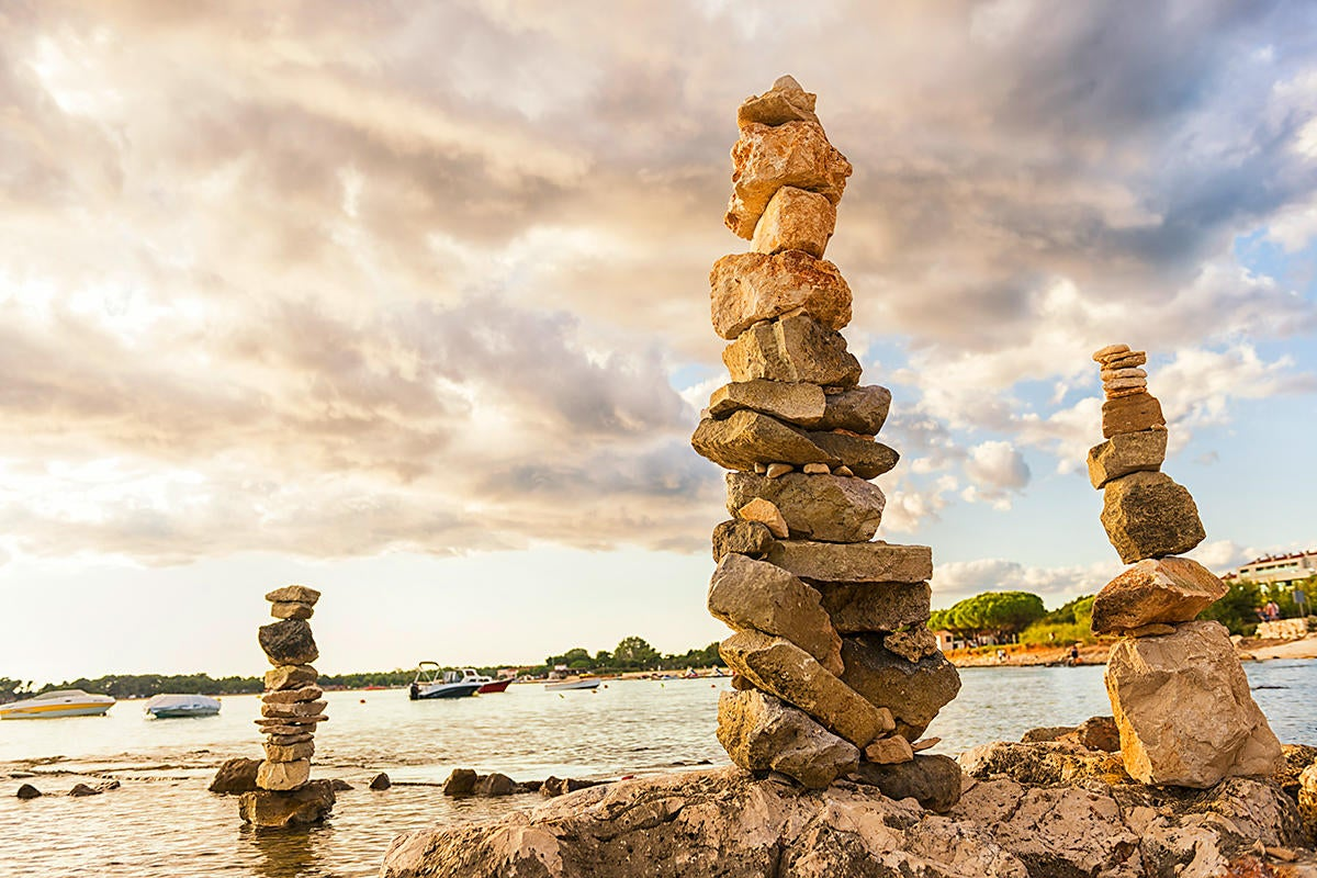 stacked rock formation