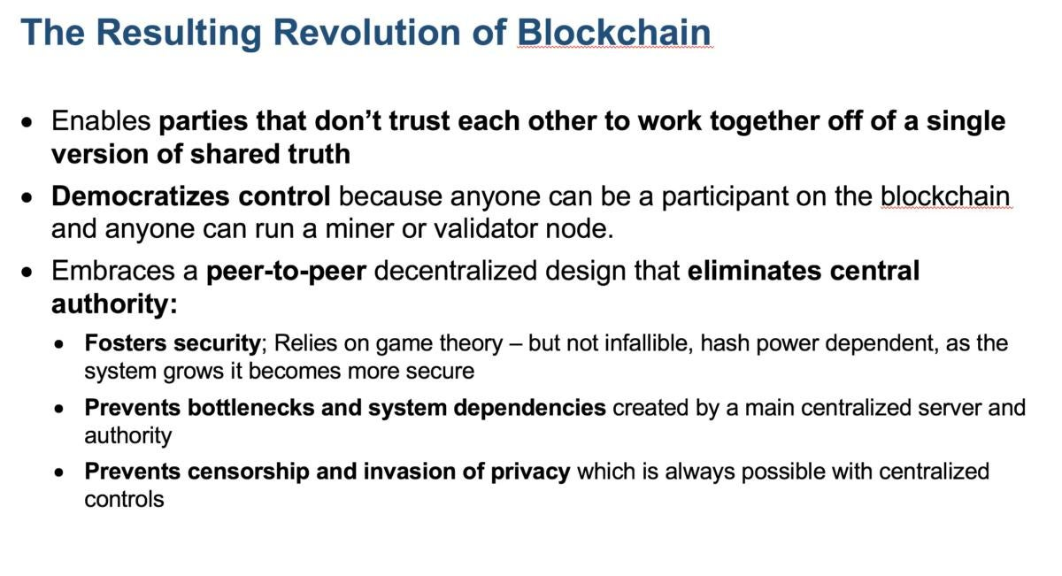Blockchain revolution Gartner