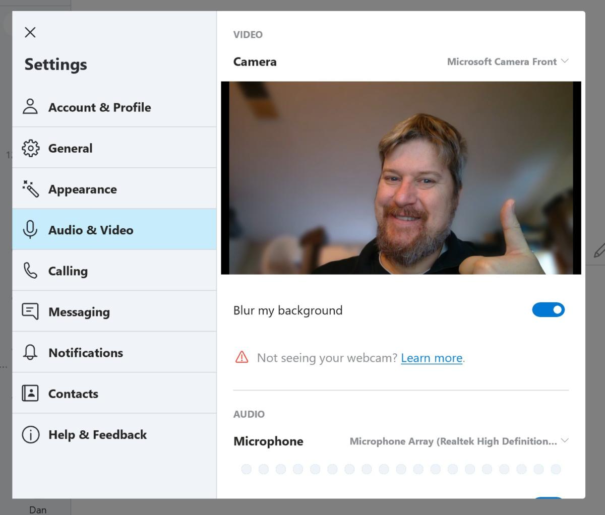 Skype's cool, useful background-blurring feature goes live for the