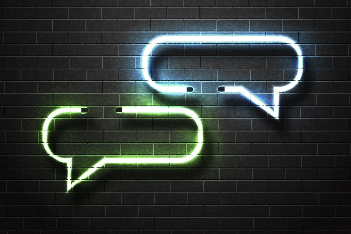 speech balloons speech bubbles conversation talk social media network by comicsans getty