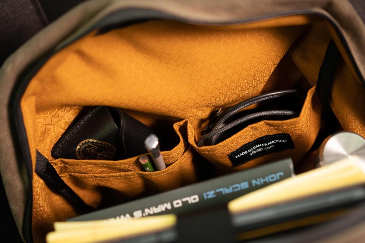 sutter slim backpack fabric