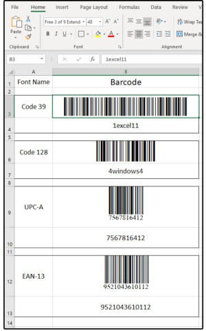 How Excel creates barcodes | PCWorld