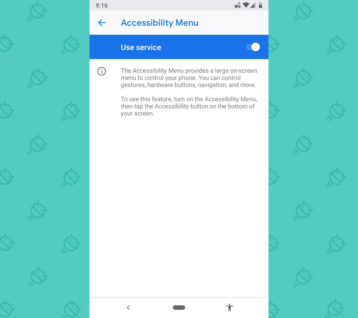 Android Accessibility Features: Accessibility Menu