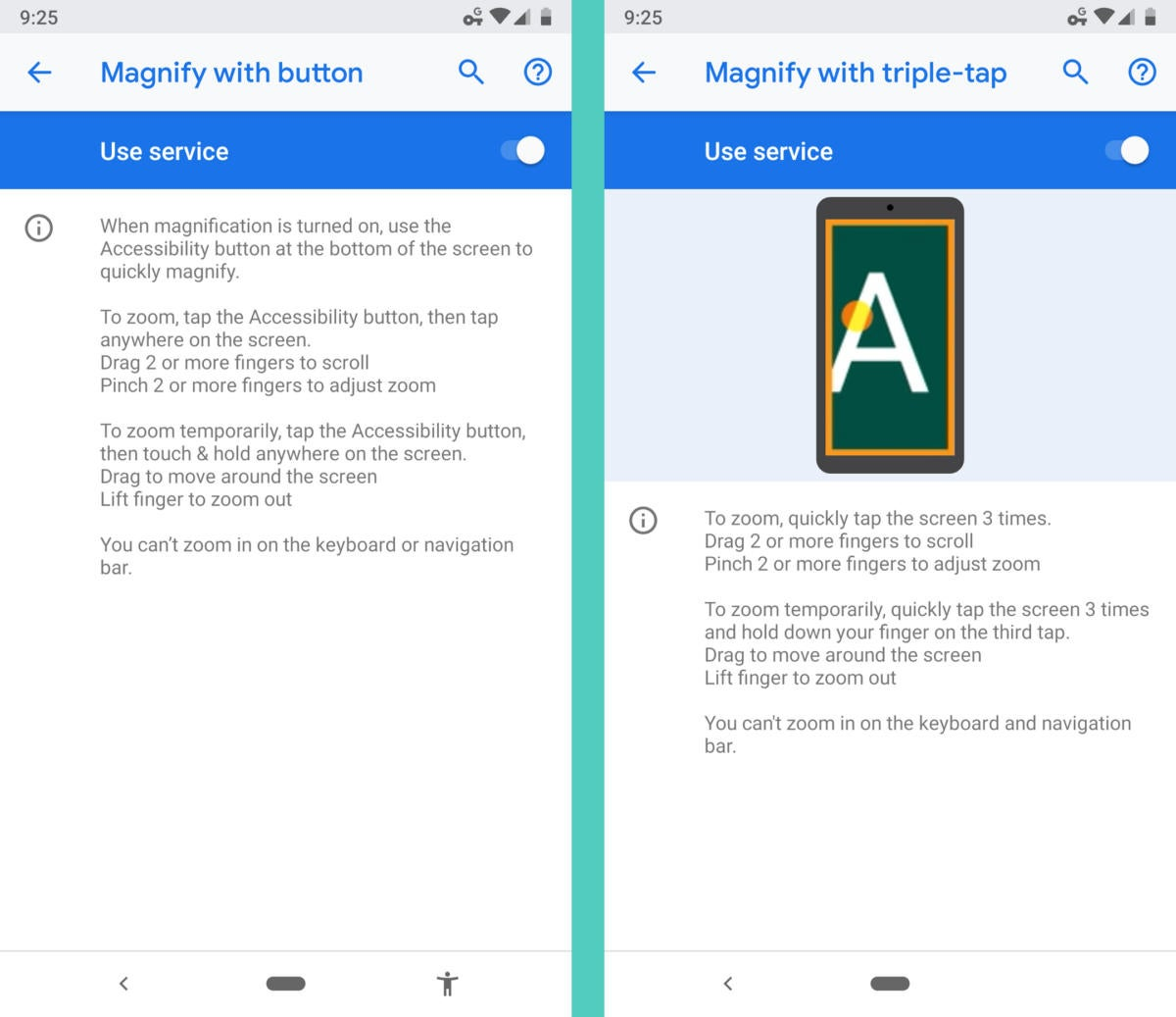 Android Accessibility Features: Magnification
