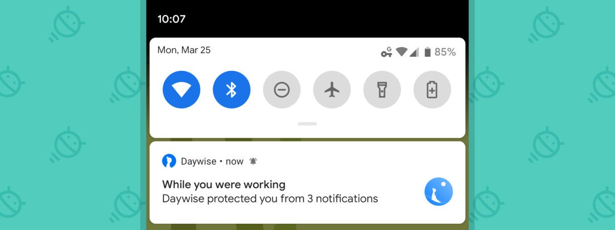 Android Notifications, Daywise delivery