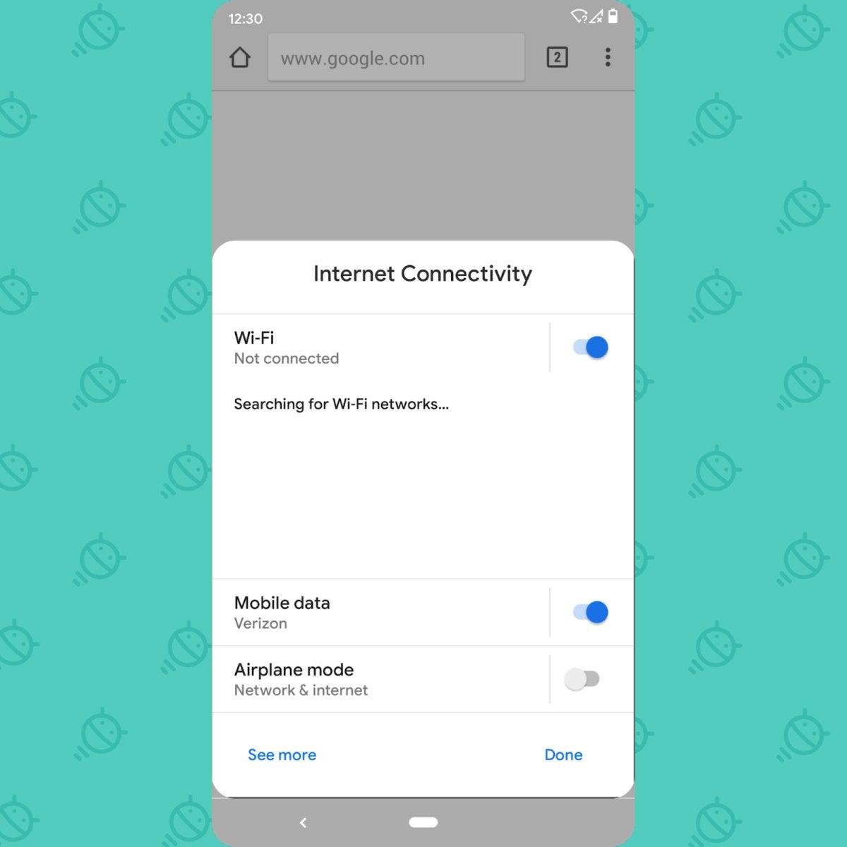 Android Q Beta: Settings panel