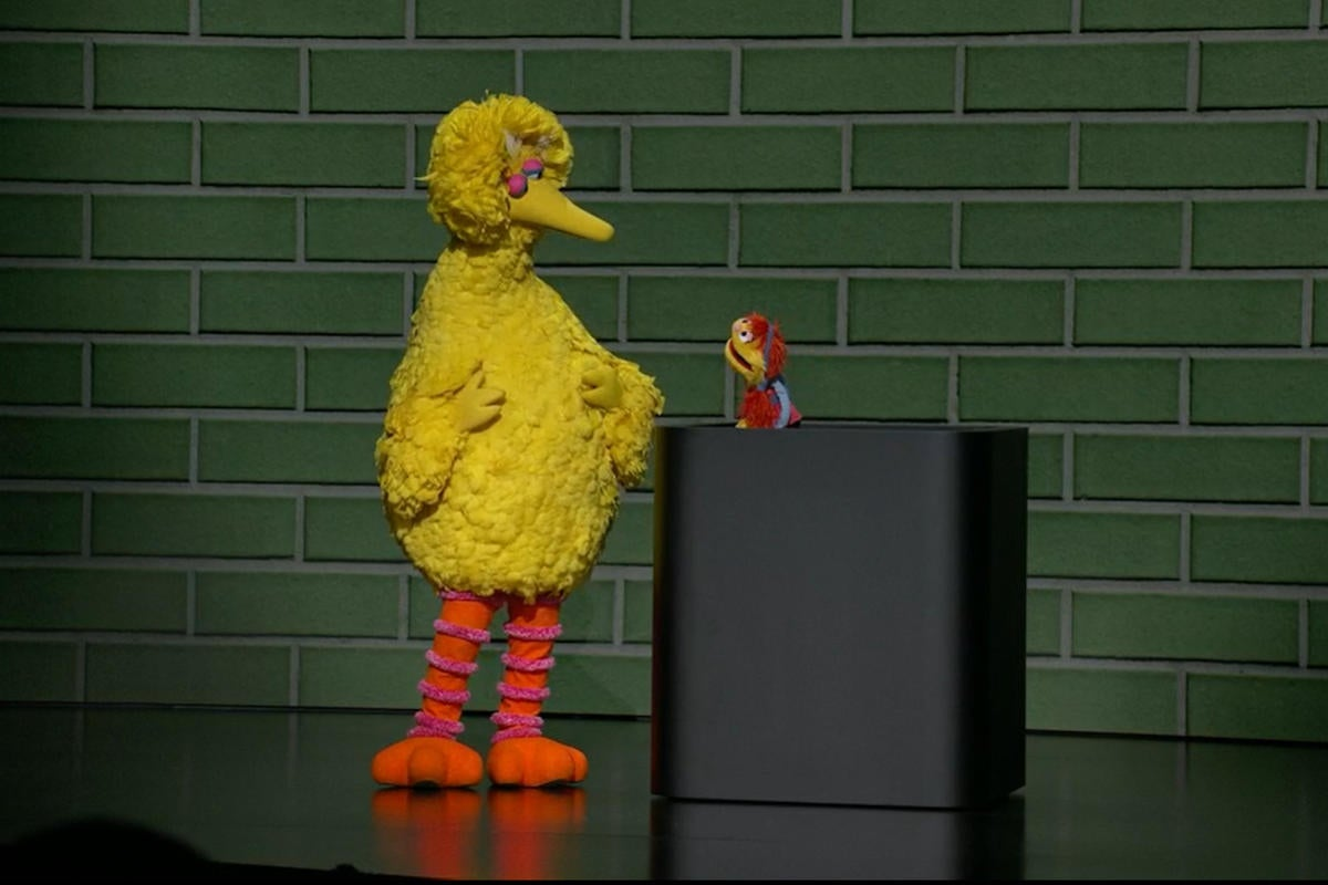 apple tv plus event big bird