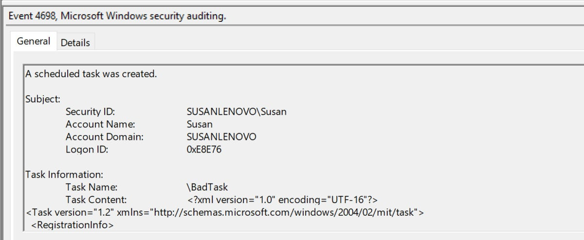 How to audit Windows Task Scheduler for cyber-attack