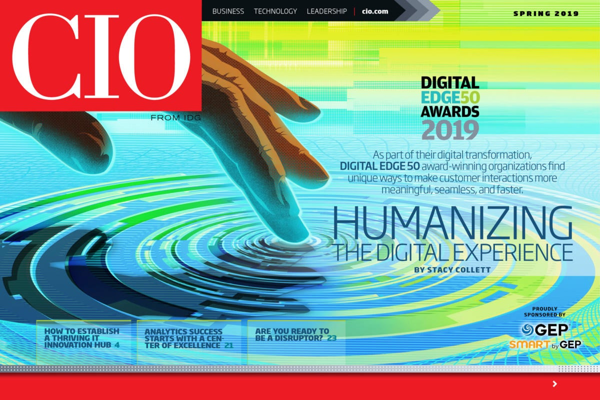 cio spring 2019 digital edge 50 by taylor callery