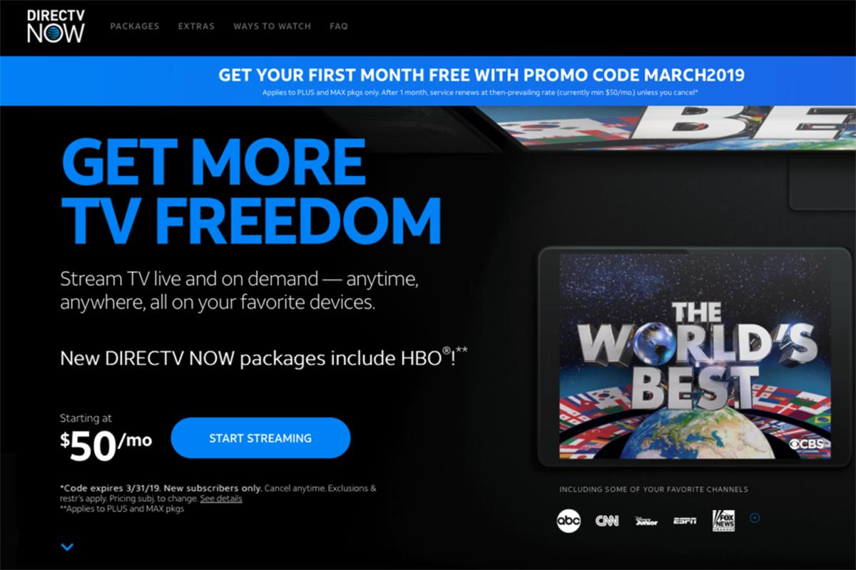 directv now packages