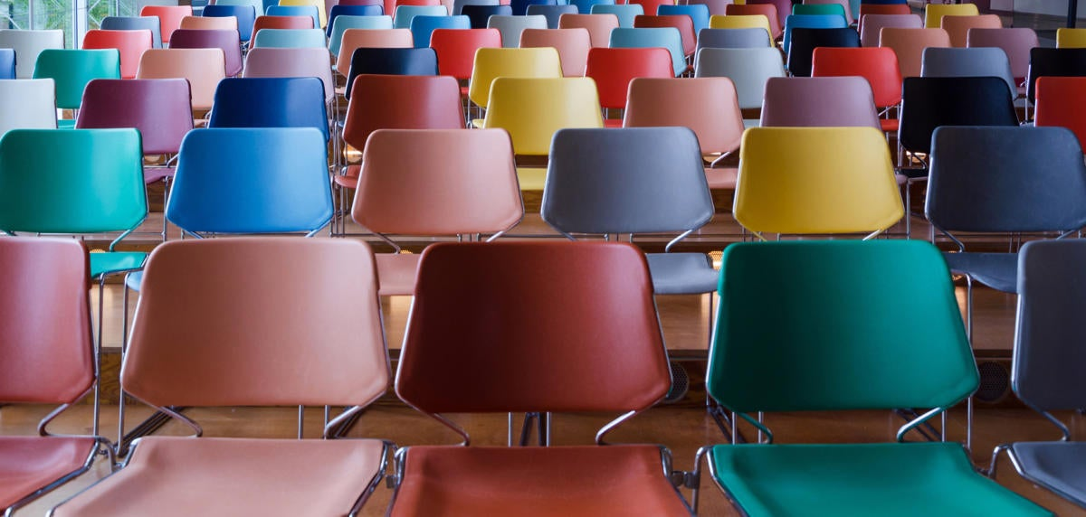 empty chairs classroom colorful diverse diversity hard to fill jobs by siraanamwong getty
