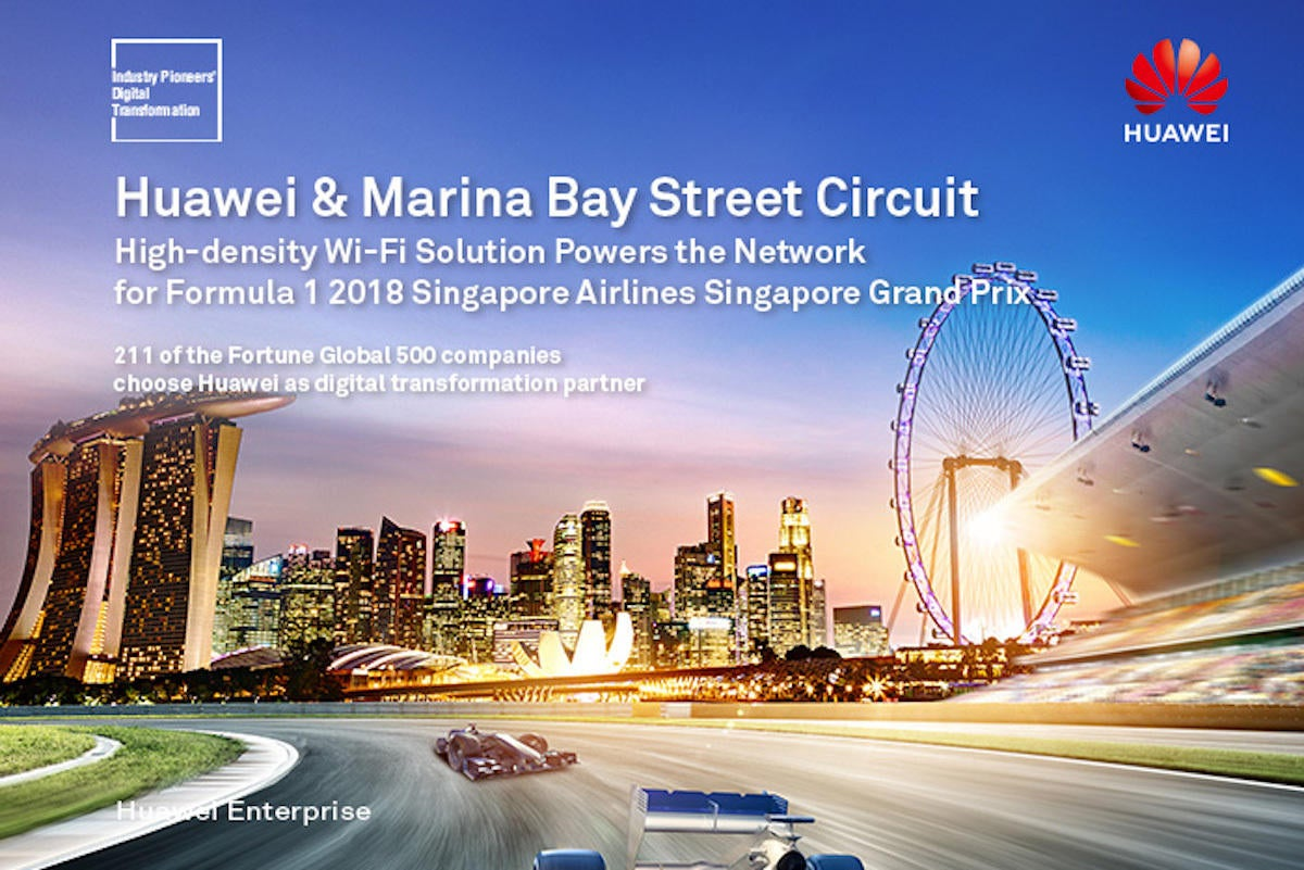 huawei provides campus wi fi solution at the marina bay street circuit