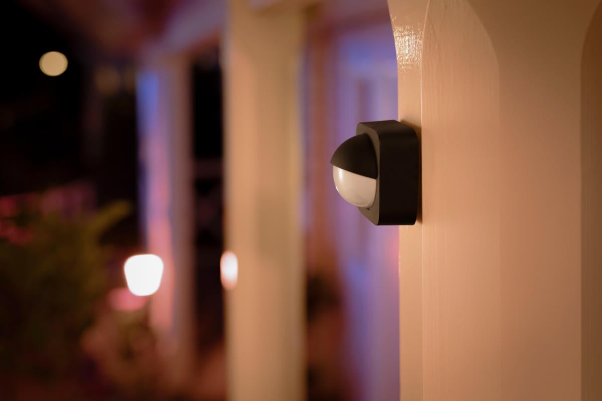 Image of: Philips Hue Outdoor Motion Sensor Review A Must Have Accessory For Hue Smart Lighting Owners Techhive
