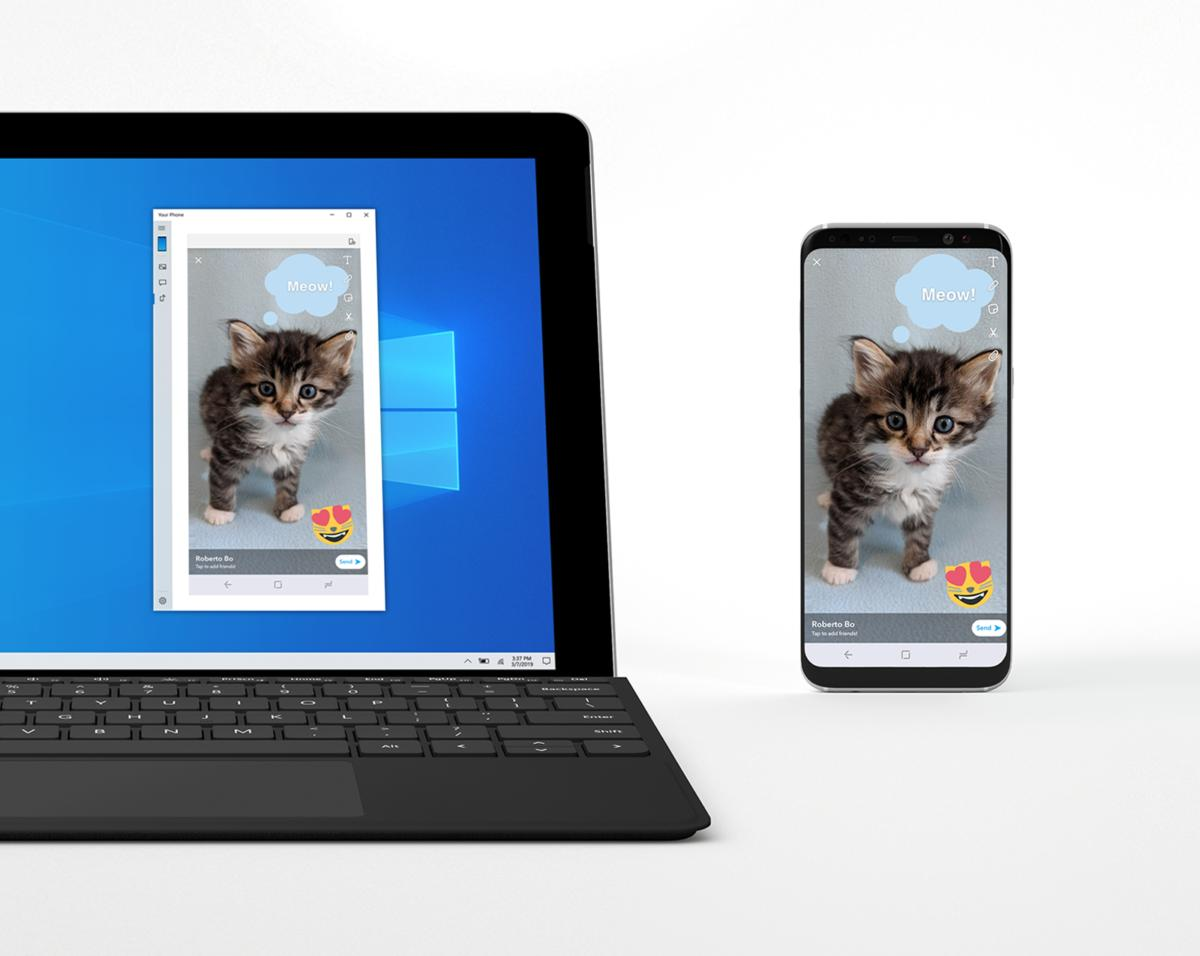 Windows 10 Your Phone phone mirroring