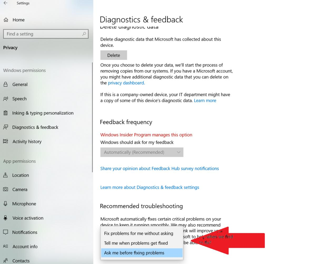 Windows 10 April 2019 Update 19H1 recommended troubleshooting base