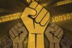 run digital disruptor rise up power fists rally