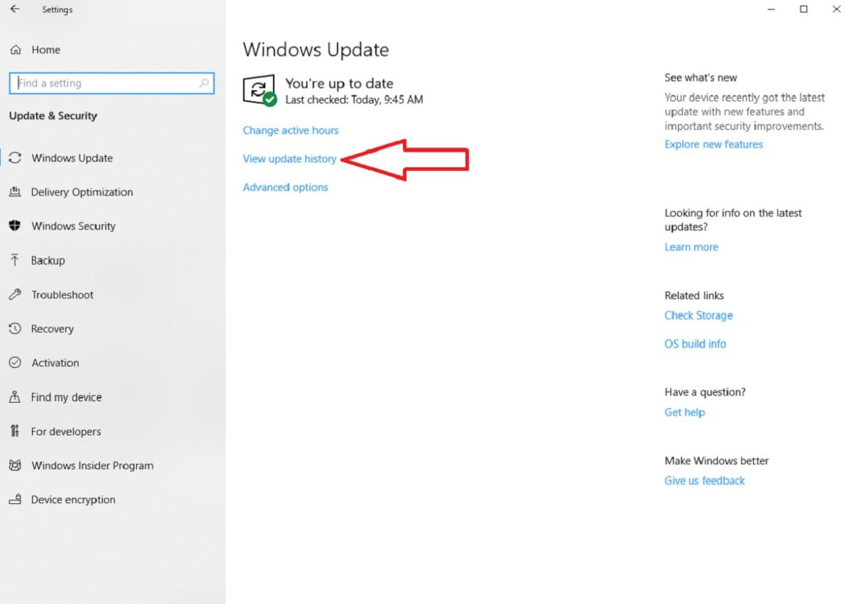 windows update view update history edited right 1200 really