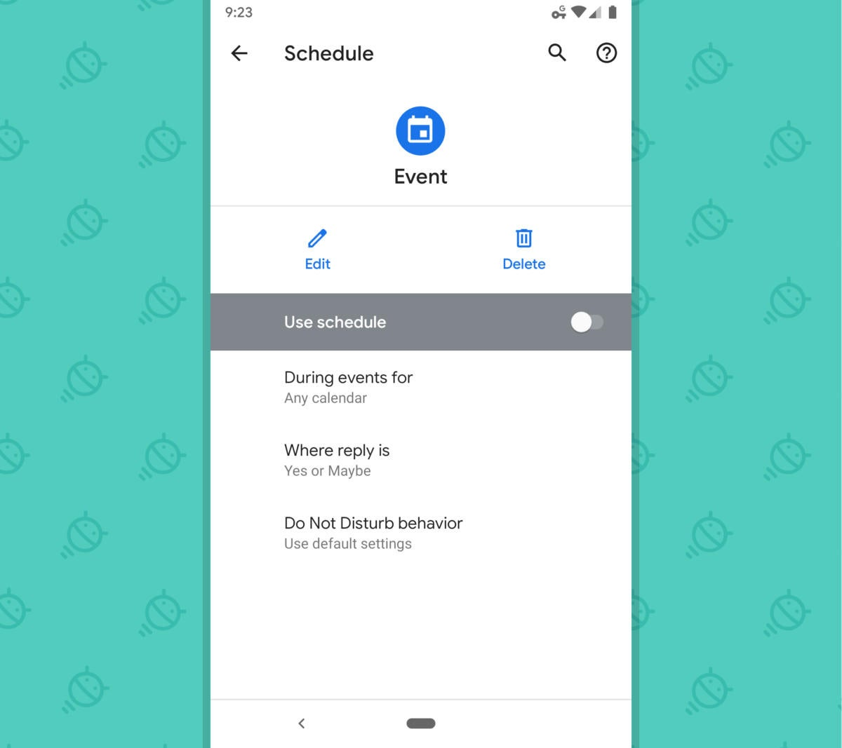 Google Calendar Android -  Silence Events