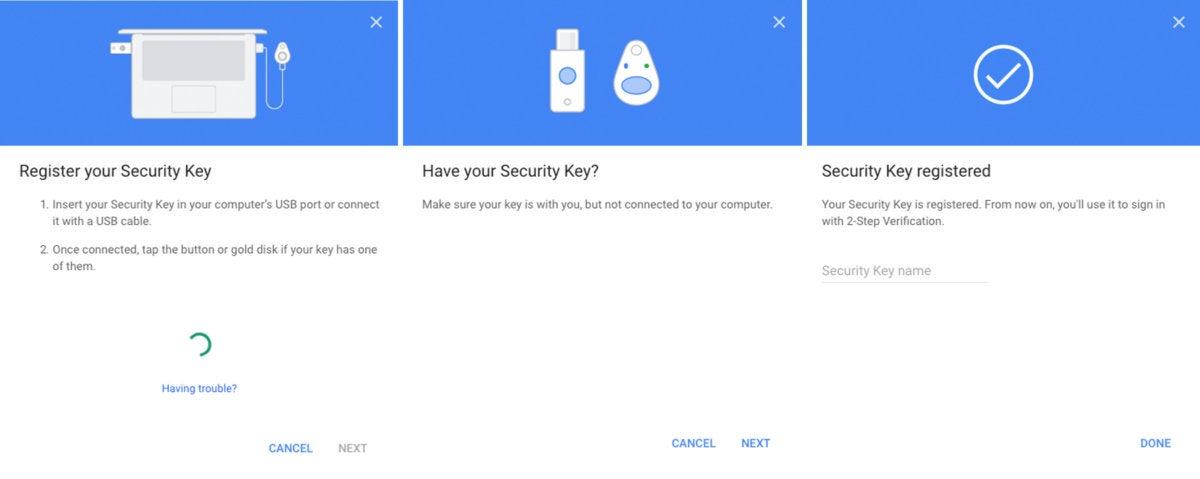 2fa security key steps