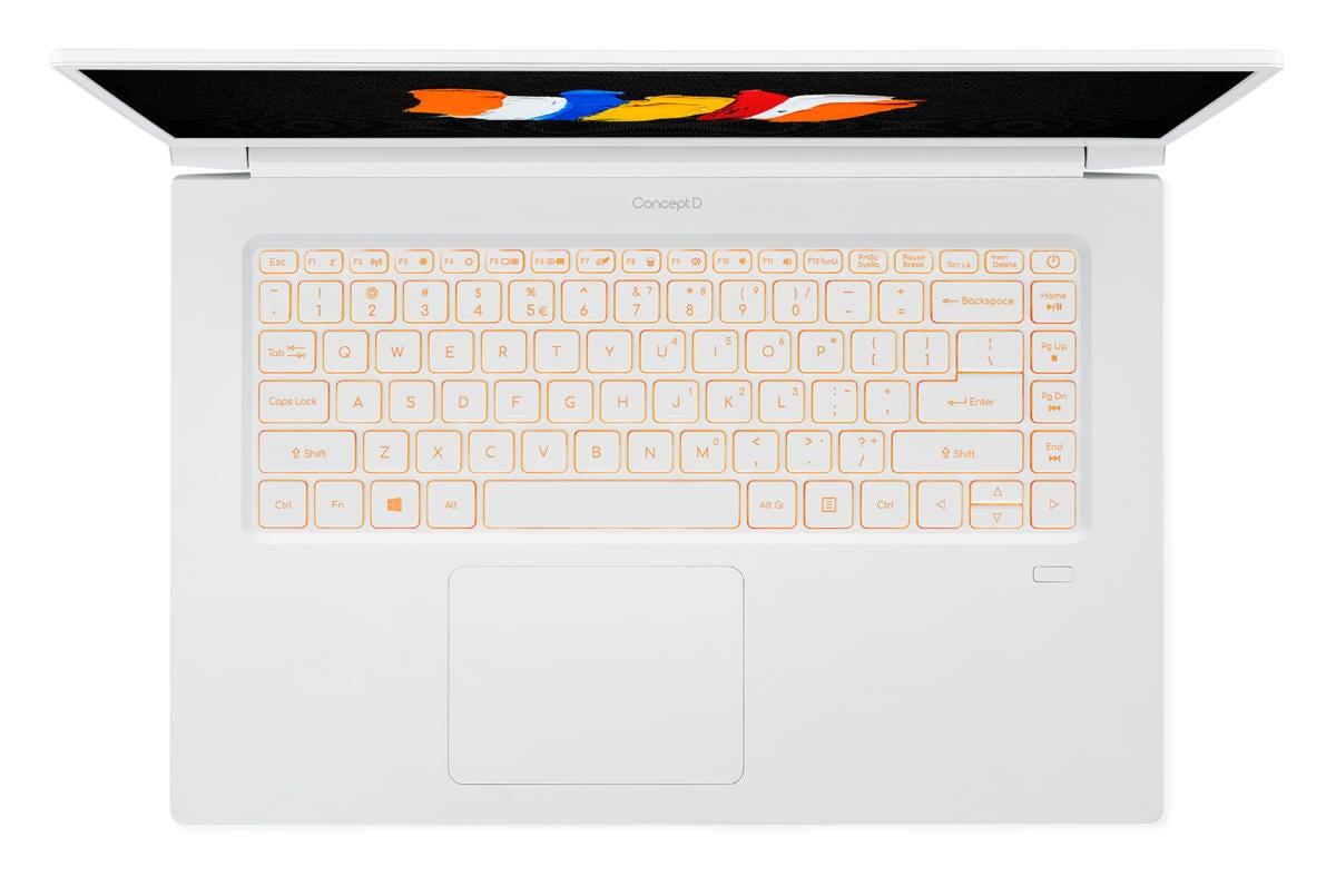 acer conceptd 5 keyboard detail