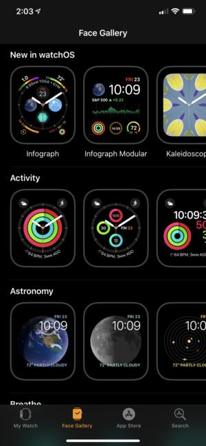 apple watch face gallery