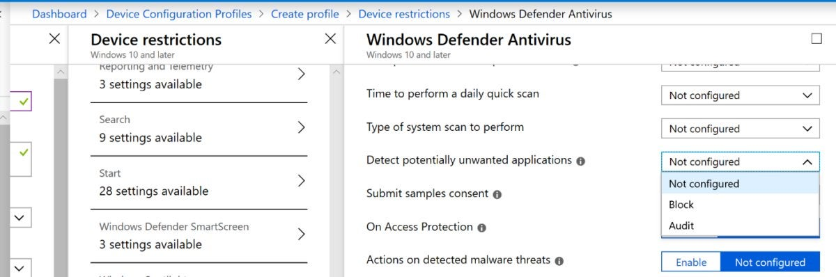 How to enable the Windows Potentially Unwanted Application