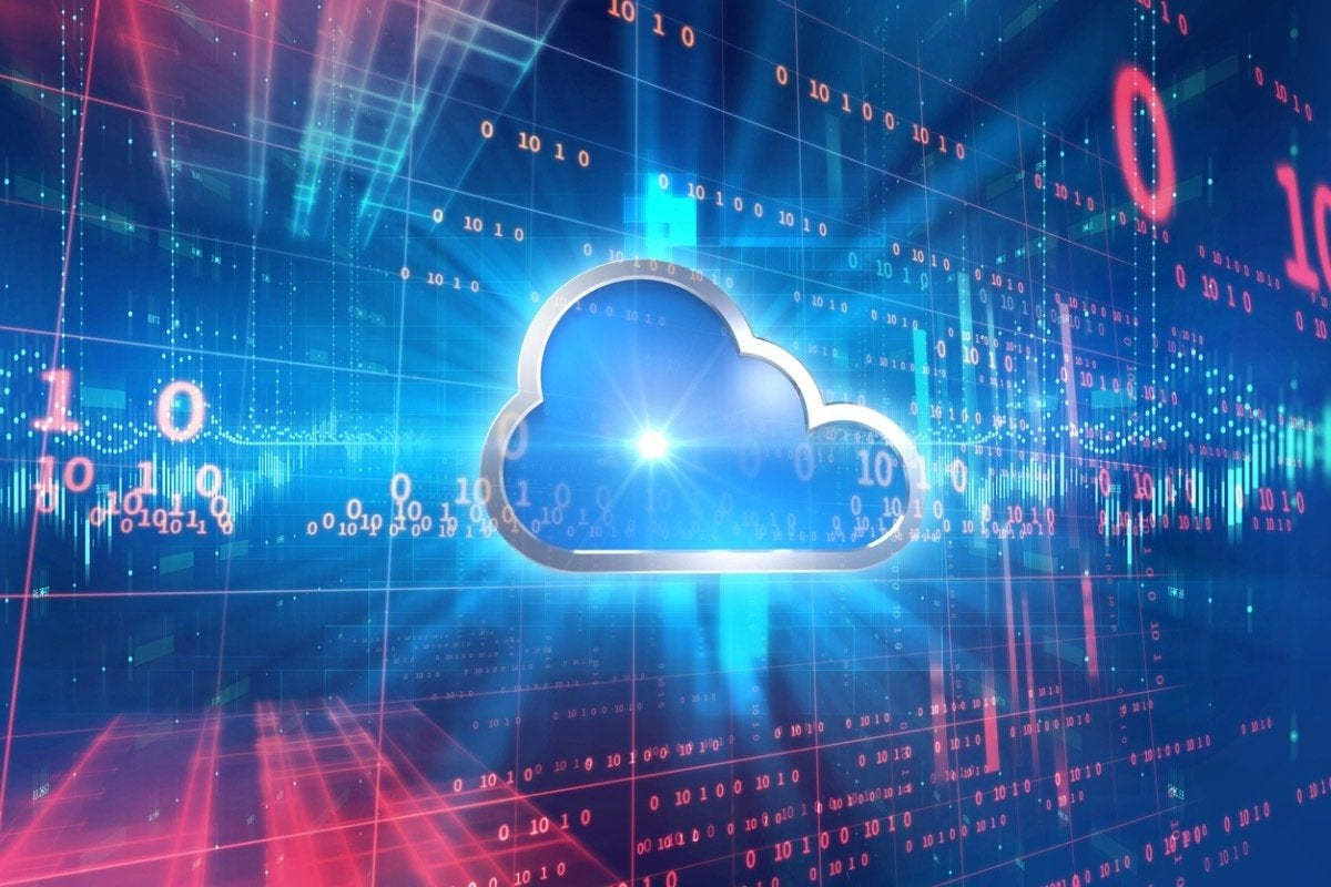 cloud computing system abstract technology background picture id961655982