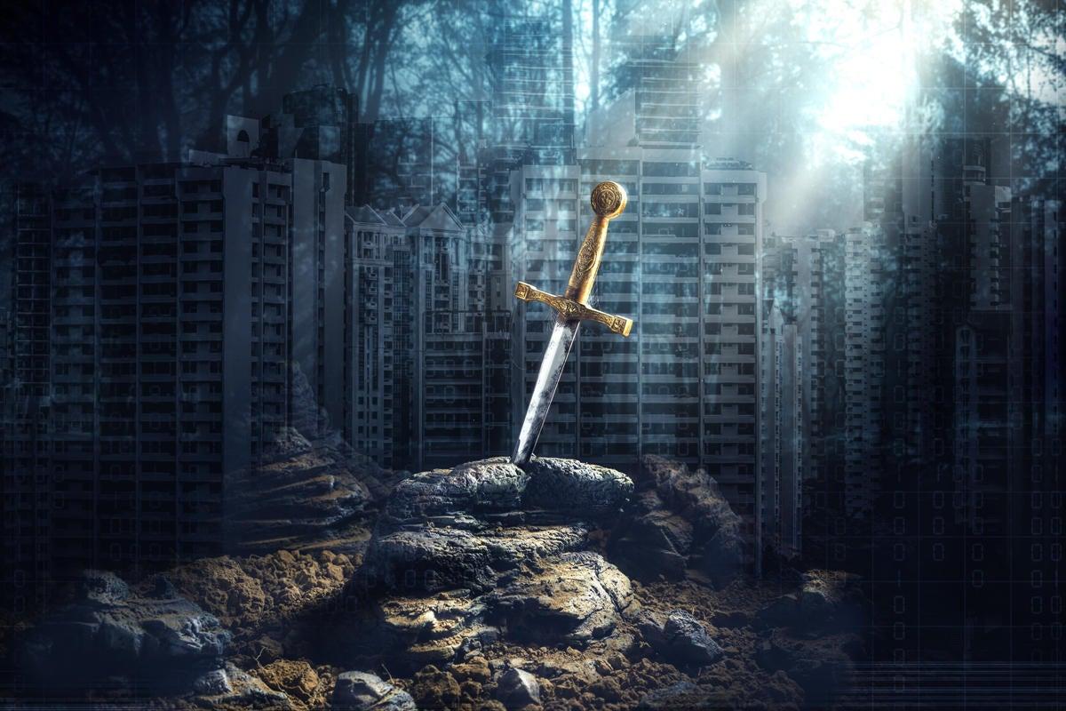 game of throwns excalibur sword royalty battle leadership victory