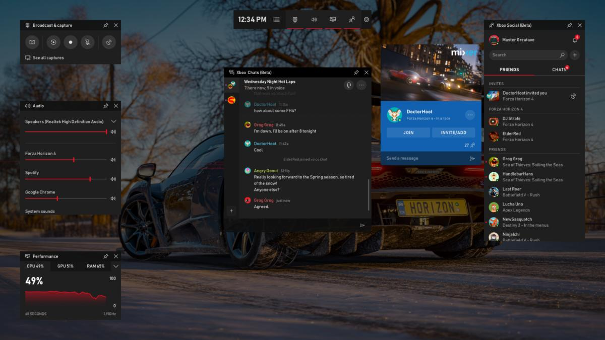 Windows 10 Game Bar - New