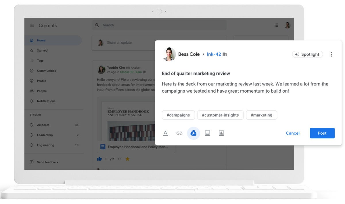 gsuite google currents