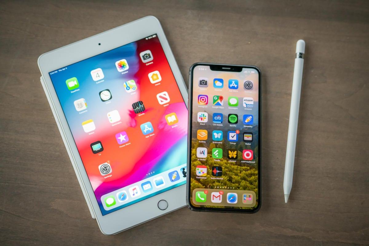 ipad mini iphone xs max apple pencil