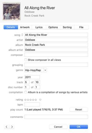 iTunes 12 metadata