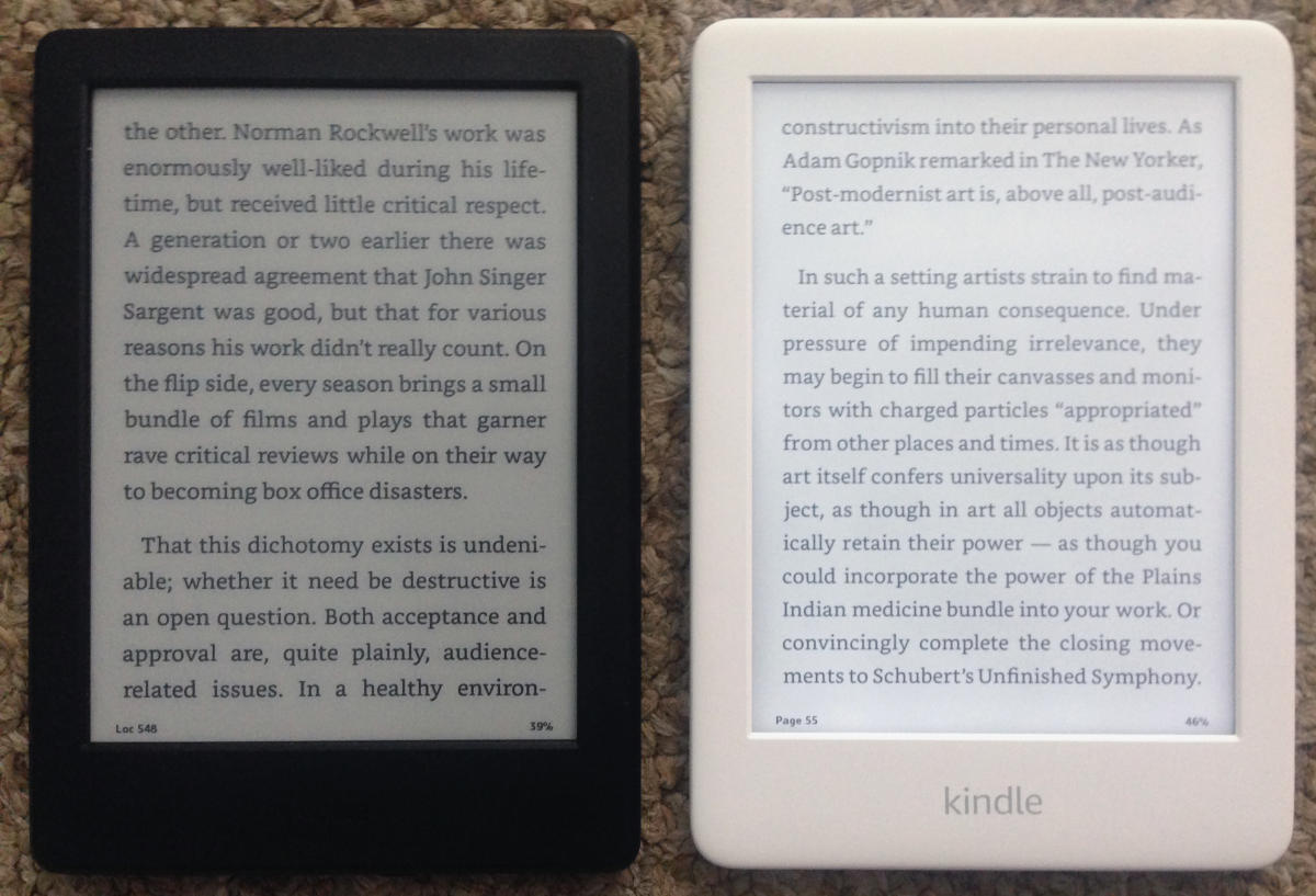 kindle comparison