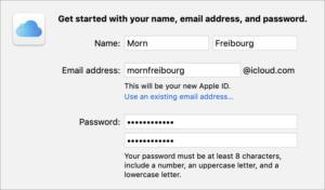 mac911 set up fresh apple id macos email