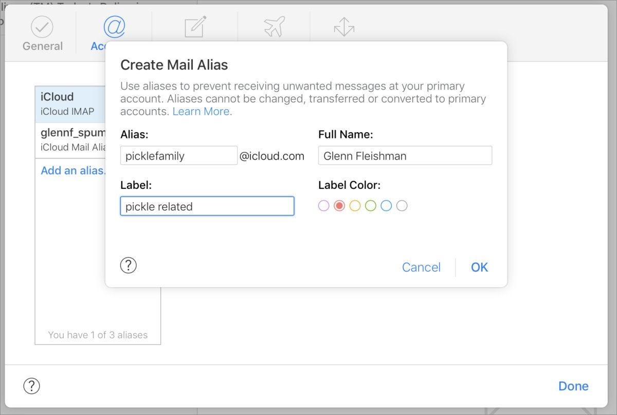 mac911 set up icloud email alias
